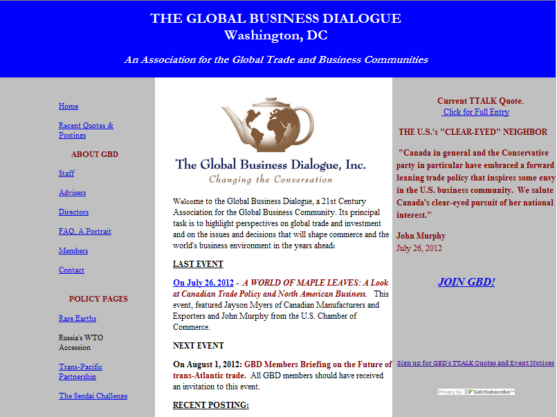 Global Business Dialogue