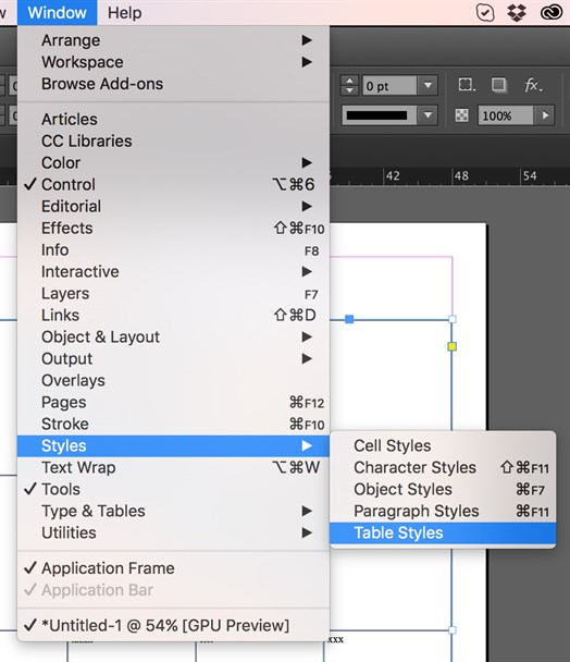 Tips For Using Indesign Table Styles