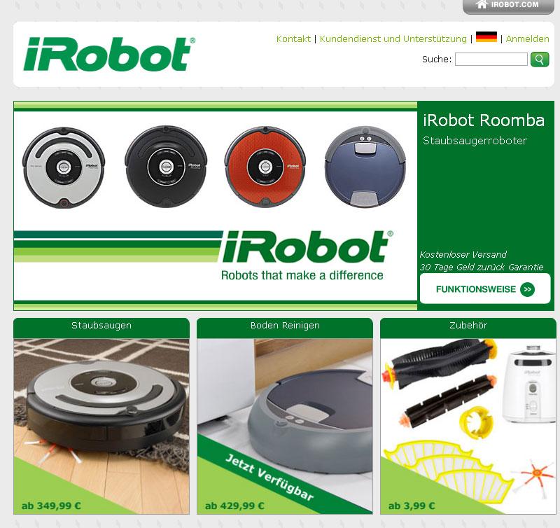 iRobot website localization