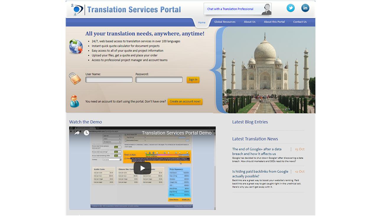 Translation Portal