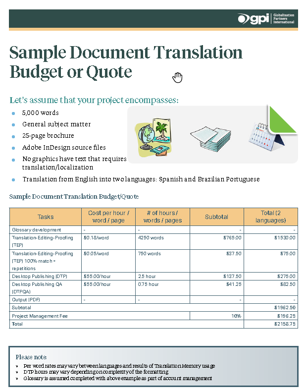 Document Translation Costs