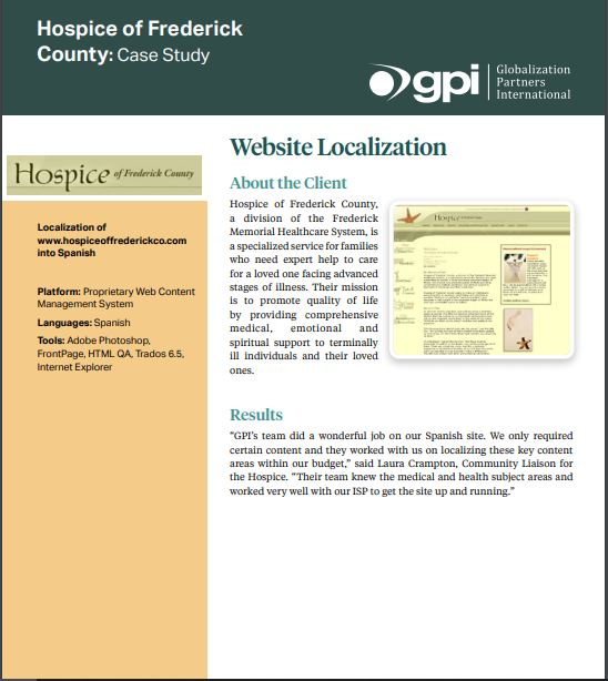 Hospice of Frederick County case study
