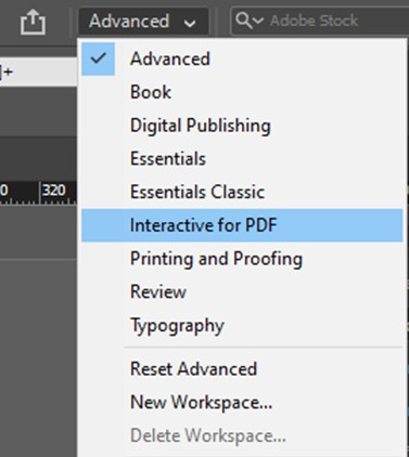 InDesign Interactive for PDF