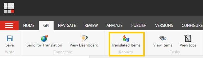Translated Items Report - Sitecore