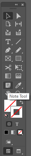 Note Tool InDesign