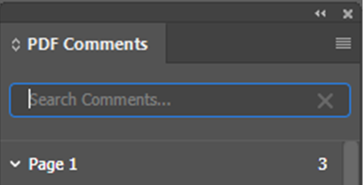 Search Comments - InDesign