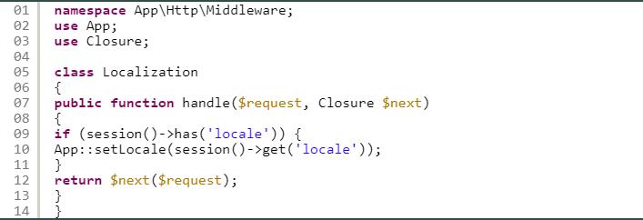 Adding Multiple Languages - Laravel
