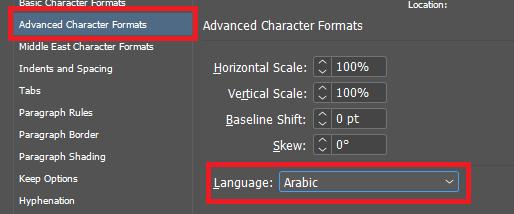 Advanced Character Formats - EPUB
