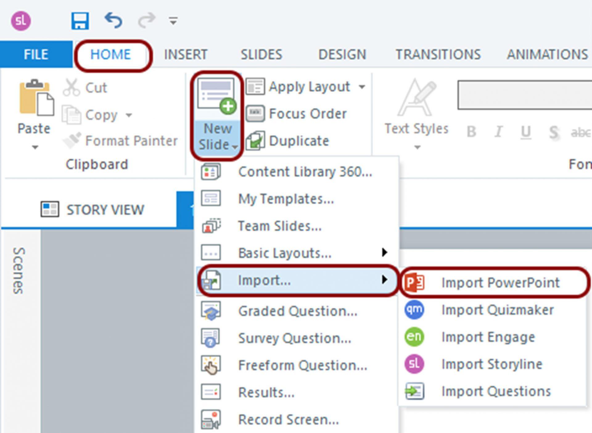 Import PowerPoint - Storyline