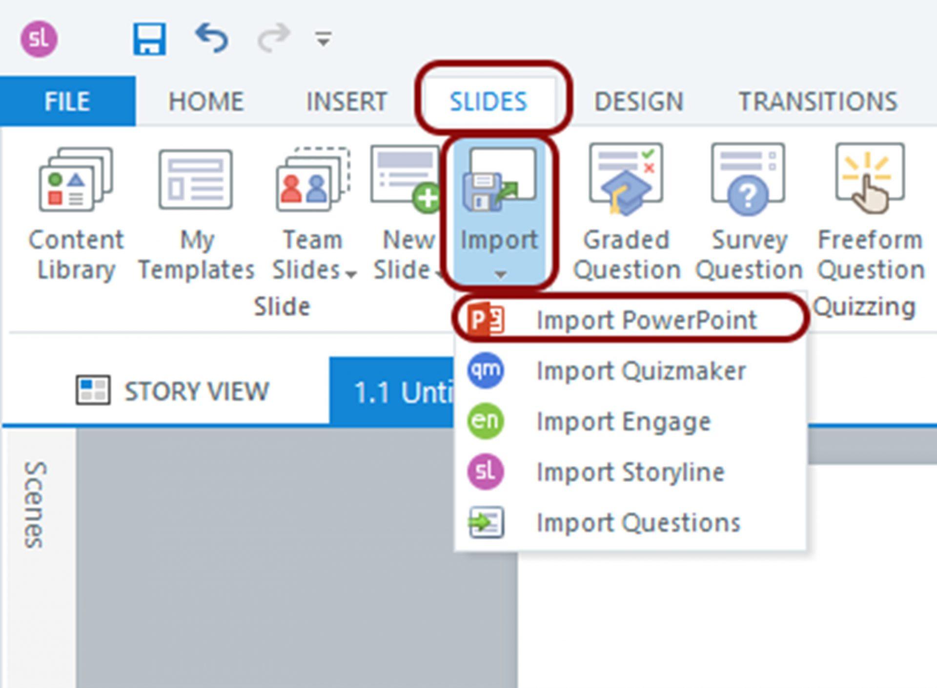 Import PowerPoint